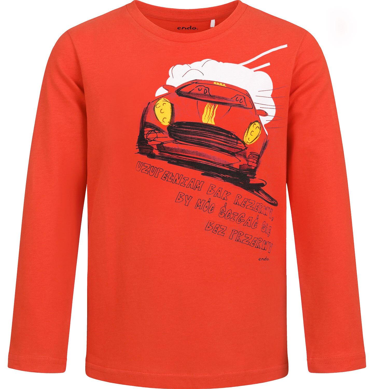 Endo - T-shirt z długim rękawem dla chłopca, czerwony, 9-13 lat C04G173_1
