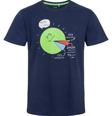 Endo - T-shirt męski, z przepisem na sukces, granatowy Q03G001_1 36
