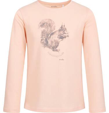 Endo - Bluzka z długim rękawem dla dziewczynki, z wiewiórką, błyszczący nadruk, 2-8 lat D04G001_1 28