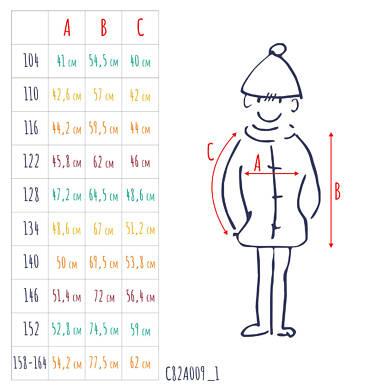Endo - Parka zimowa dla chłopca 3-8 lat C82A009_1