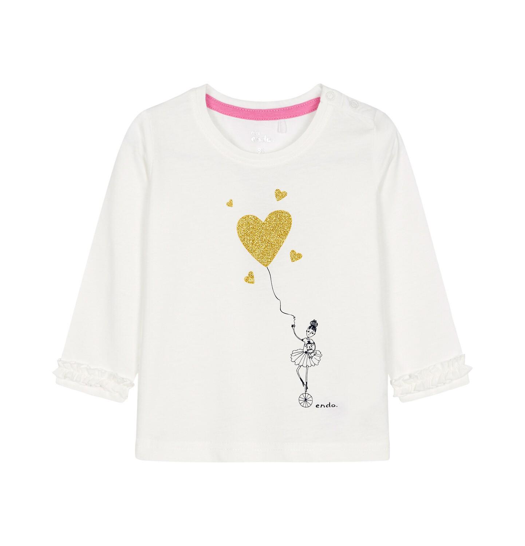 Endo - Bluzka z długim rękawem dla dziecka 0-3 lata N92G089_1
