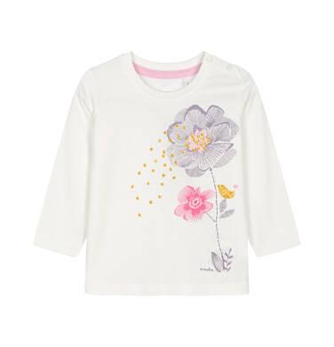 Bluzka z długim rękawem dla dziecka 0-3 lata N92G109_1