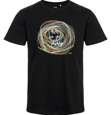 Endo - T-shirt męski, nikt nie jest idealny, czarny Q03G003_1 33