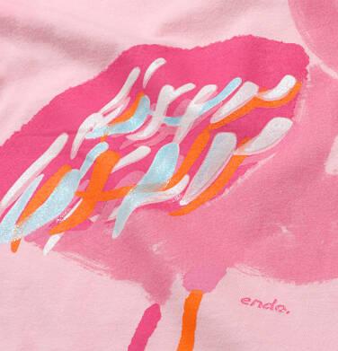 Endo - T-shirt z krótkim rękawem dla dziewczynki, z flamingiem, różowy, 9-13 lat D06G080_1 88