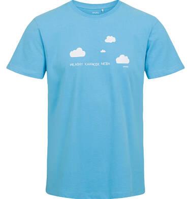 Endo - T-shirt męski, niebieski Q03G006_1 35