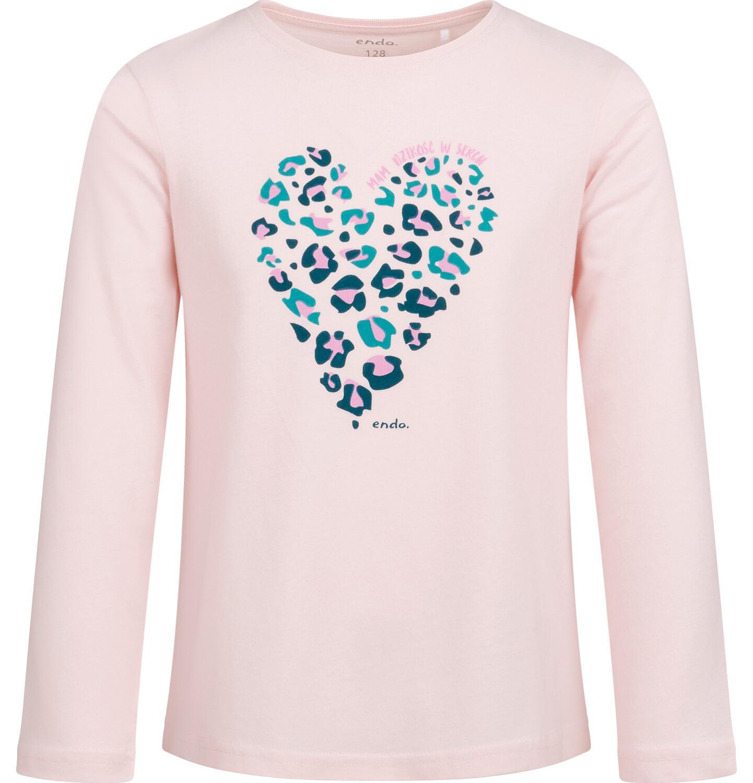 Endo - Bluzka z długim rękawem dla dziewczynki, z sercem, 2-8 lat D04G014_1
