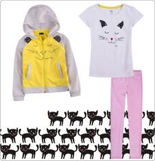 Zestaw dla małej dziewczynki z linii Mam kota D011_M