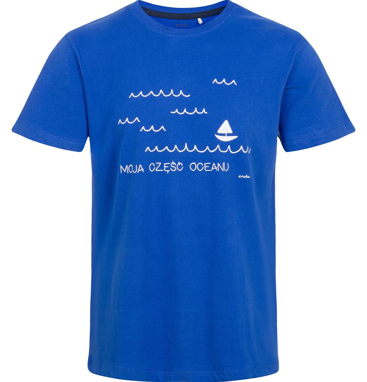Endo - T-shirt męski, z morskim motywem Q03G007_1