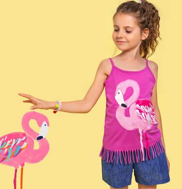 Endo - Top na ramiączkach, z flamingiem, z frędzlami na dole, różowy, 9-13 lat D06G081_2 33