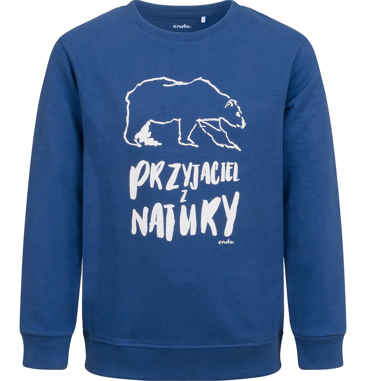 Endo - Bluza dla chłopca, z niedźwiedziem, niebieska, 2-8 lat C04C056_1