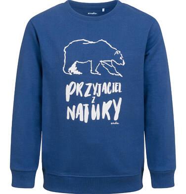 Bluza dla chłopca, z niedźwiedziem, niebieska, 2-8 lat C04C056_1