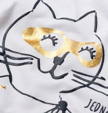 Endo - T-shirt z krótkim rękawem dla dziewczynki, z kotem bohaterem, biały, 9-13 lat D05G078_2 16