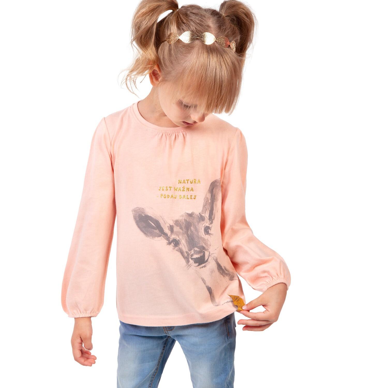 Endo - Bluzka z długim rękawem dla dziewczynki, z sarenką 2-8 lat D04G022_1