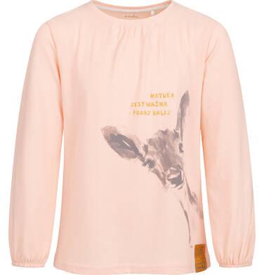 Bluzka z długim rękawem dla dziewczynki, z sarenką 2-8 lat D04G022_1