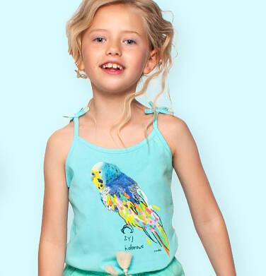 Endo - Top na ramiączkach, z kolorową papugą, niebieski, 9-13 lat D06G083_1 32