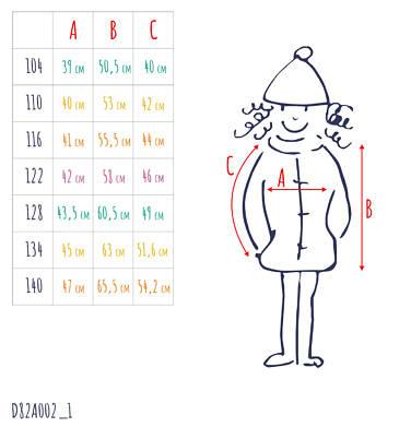 Endo - Kurtka zimowa dla dziewczynki 3-8 lat D82A002_1