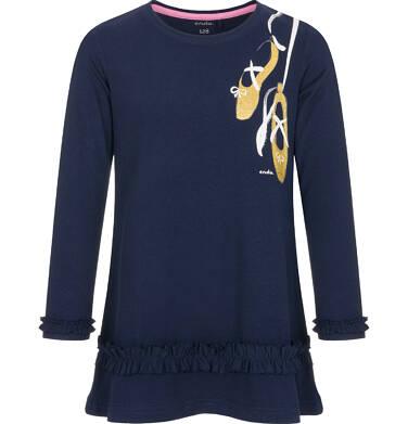 Tunika z długim rękawem dla dziewczynki 9-13 lat D92T526_1