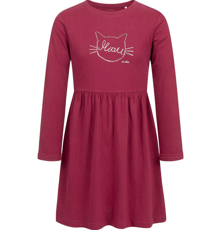 Endo - Sukienka z długim rękawem, czerwona, 2-8 lat D04H022_1