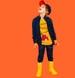 Endo - Lekkie piankowe kalosze dla dziecka, żółto-srebrne, 9-13 lat C04O501_1,2