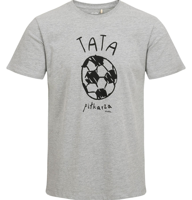 Endo - T-shirt męski, z piłką, szary Q03G012_1