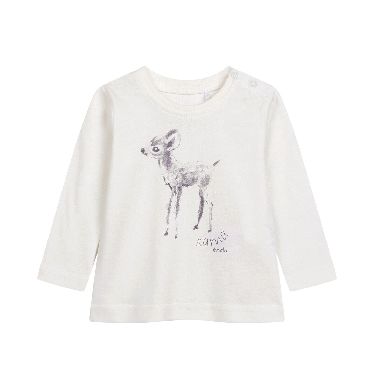 Endo - Bluzka z długim rękawem dla dziecka do 2 lat, porcelanowa N04G017_1