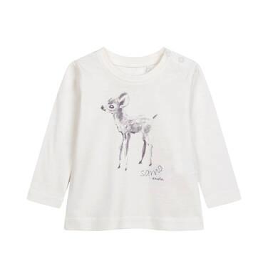 Bluzka z długim rękawem dla dziecka do 2 lat, porcelanowa N04G017_1
