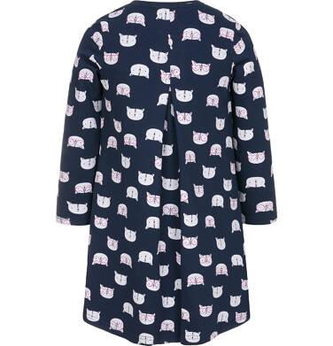 Endo - Sukienka z długim rękawem dla dziewczynki 3-8 lat D92H039_1,2