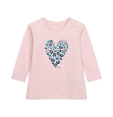 Endo - Bluzka z długim rękawem dla dziecka do 2 lat, różowa N04G019_1 12