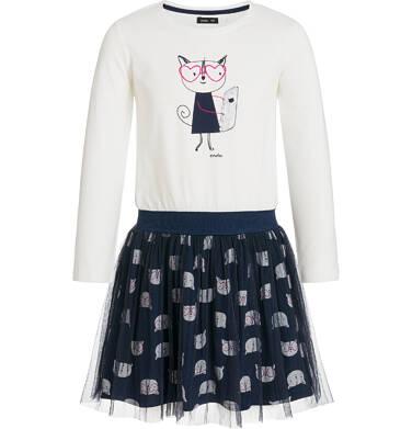Endo - Sukienka z długim rękawem dla dziewczynki 9-13 lat D92H540_1