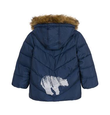 Endo - Kurtka zimowa dla małego dziecka, Charakter doskonały, granatowa, z futrzanym kapturem, ciepła N92A027_2 17