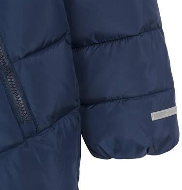 Endo - Kurtka zimowa dla małego dziecka, Charakter doskonały, granatowa, z futrzanym kapturem, ciepła N92A027_2,7