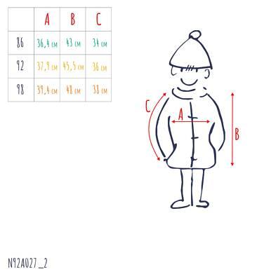 Endo - Kurtka zimowa dla małego dziecka, Charakter doskonały, granatowa, z futrzanym kapturem, ciepła N92A027_2,3