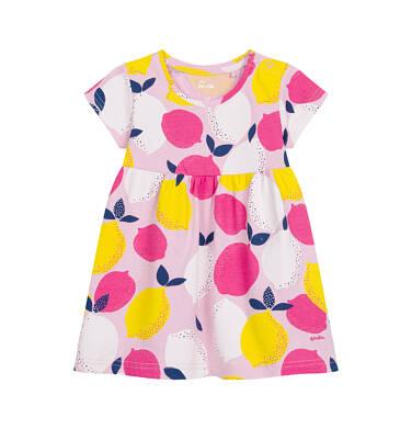 Endo - Sukienka z krótkim rękawem dla dziewczynki, w cytryny N03H017_1 1