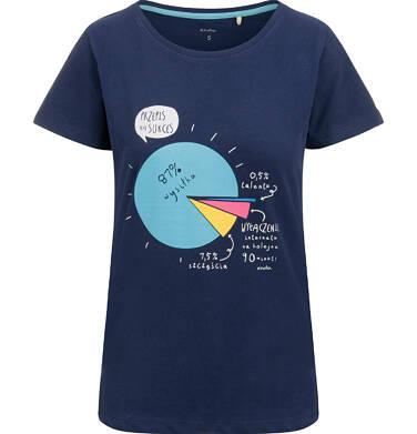 Endo - T-shirt damski, z przepisem na sukces, granatowy Y03G001_1 8