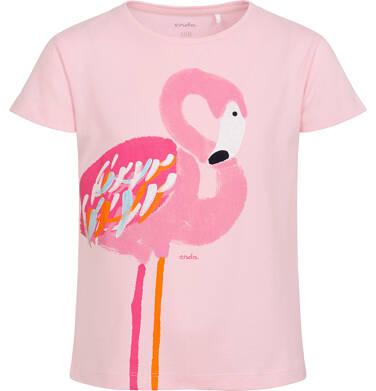Endo - T-shirt z krótkim rękawem dla dziewczynki, z flamingiem, różowy, 2-8 lat D06G095_1 2