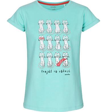 T-shirt z krótkim rękawem dla dziewczynki 3-8 lat D91G067_1