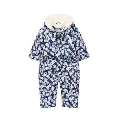 Endo - Kombinezon zimowy dla małego dziecka, deseń w kwiaty, kaptur na misiu N92A002_1