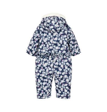 Endo - Kombinezon zimowy dla małego dziecka, deseń w kwiaty, kaptur na misiu N92A002_1,3