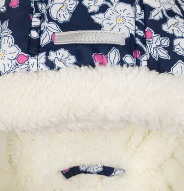 Endo - Kombinezon zimowy dla małego dziecka, deseń w kwiaty, kaptur na misiu N92A002_1,4