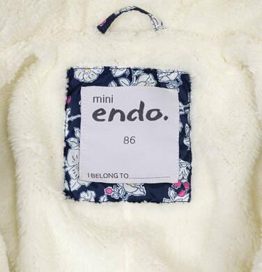 Endo - Kombinezon zimowy dla małego dziecka, deseń w kwiaty, kaptur na misiu N92A002_1,5