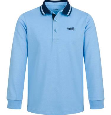 Endo - T-shirt polo z długim rękawem dla chłopca, błękitny, 2-8 lat C03G179_2 229