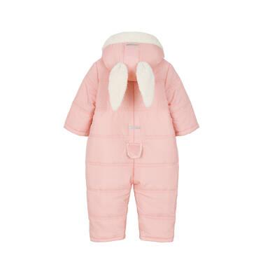 Endo - Kombinezon zimowy dla małego dziecka, jasnoróżowy, królicze uszka i ogonek N92A003_1