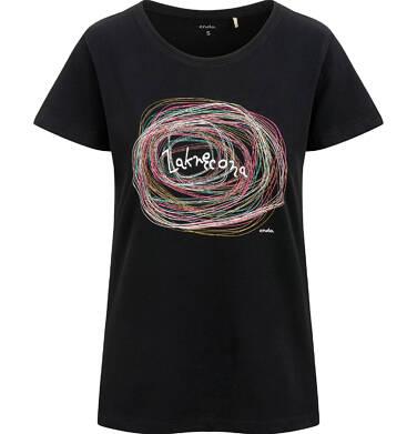 Endo - T-shirt damski, zakręcona, czarny Y03G003_1 5