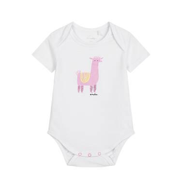 Endo - Body z krótkim rękawem dla dziecka do 2 lat, z alpaką, białe N03M021_1 14