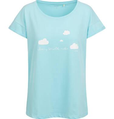 Endo - T-shirt damski, niebieski Y03G004_1 7