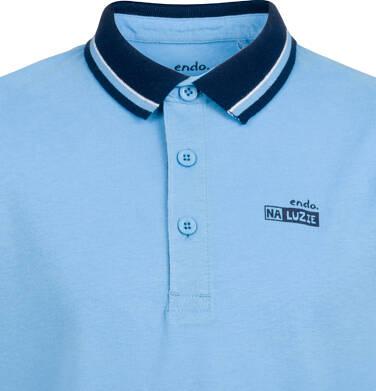 Endo - T-shirt polo z długim rękawem dla chłopca, błękitny, 9-13 lat C03G679_2 94