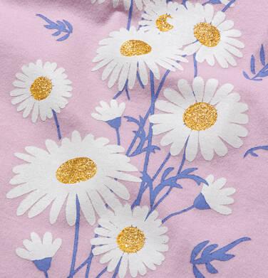 Endo - T-shirt z krótkim rękawem dla dziewczynki, w stokrotki, różowy, 9-13 lat D05G160_1,2