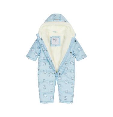 Endo - Kombinezon zimowy dla małego dziecka, błękitny, deseń w misie N92A006_1