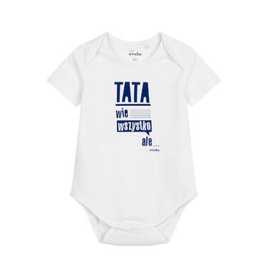 Endo - Body z krótkim rękawem dla dziecka do 2 lat, białe N03M025_1