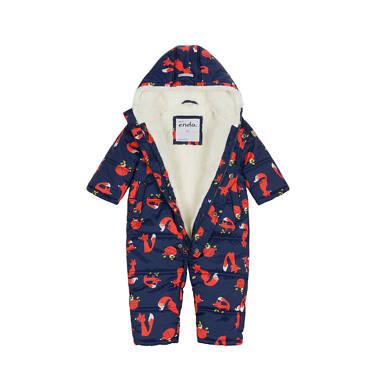 Endo - Kombinezon zimowy dla małego dziecka, granatowy, w rude liski N92A007_1